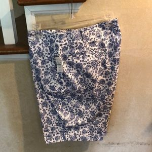 Talbots blue and white shorts, size 14p